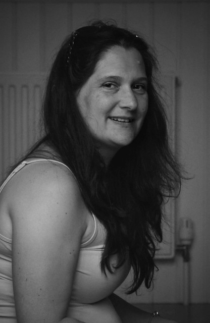 Canon EOS 60D - Black & White Portrait - My wife Lisa