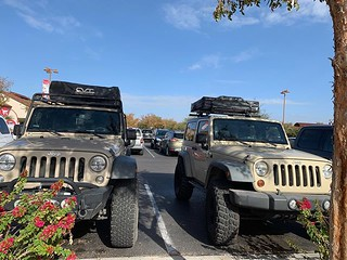 We were twinning at Target the other day - we may or may not have made a few loops of the parking lot waiting for a spot to open next to our twin Jeep.  #Jeep #overland #overlandbound by bartlewife | by TheBartlemans