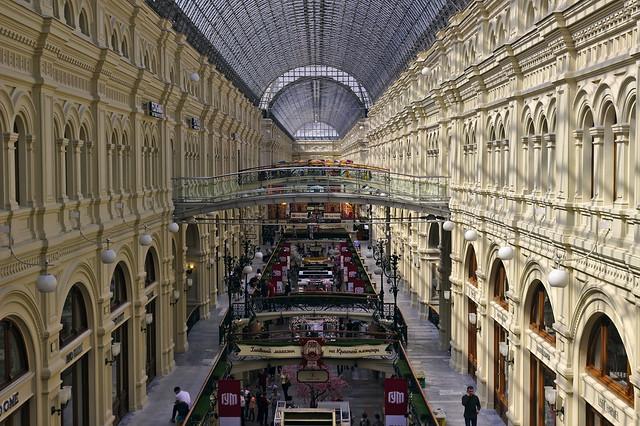 Interior of GUM (ГУМ), Red square