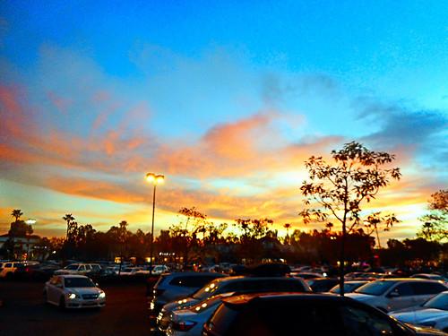 ranchosantamargarita california photo digital winter parkinglot sunset clouds