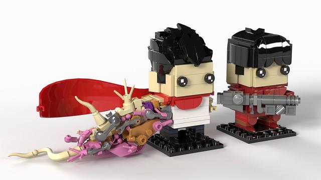 Tetsuo & Keneda Akira BrickHeadz MOC