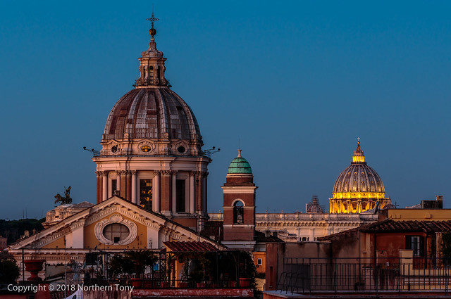 Rome from the rooftop