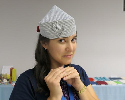 Tereza Corsini wearing my Chameleon Hat at CDO convention 2018 | by Viviane des Papiers