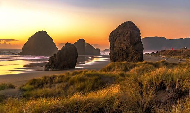 Meyers Creek Beach Dunes Sunset