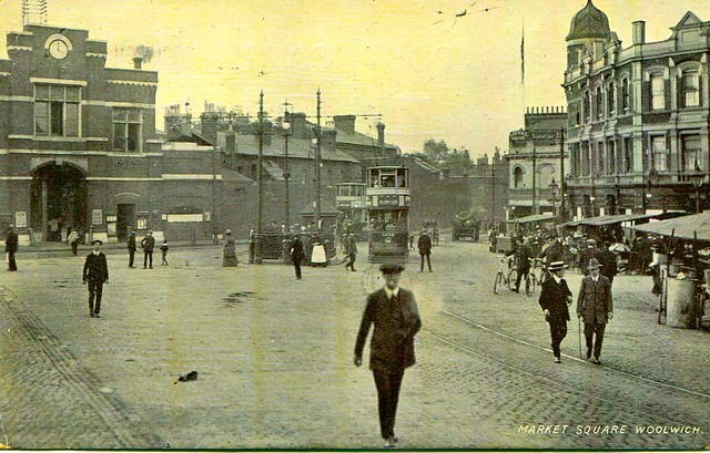 Beresford Square, Woolwich, London, circa 1913