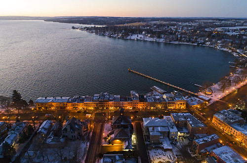 aerialphotography aeril dronephotography drone drones dji djiphantom4 phantom4pro skaneateleslake skaneateles christmas holiday holidays snow cold twilight morning sunrise tree life lake flx festive village usa ny 2018 beautiful quiet calm tranquil