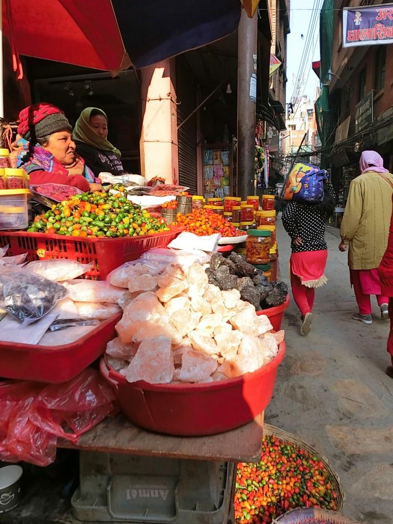 Salt lump in market