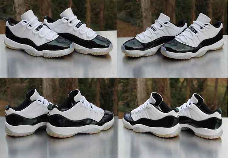 773cbfdc242 ... Nike Air Jordan 11 Retro Low Emerald 528895-145 Black White Men's Size  9.5
