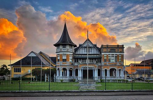 oldhouse architecture cloud iphonex portofspain pos sunset trinidadandtobago tt house