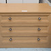 Oak 3 drawer chest of drawers E125