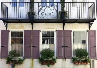 Mauve shutters, Elliott Street, Charleston, SC