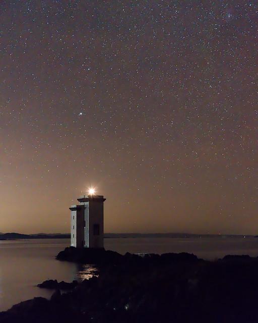Carriag Fhada Lighthouse at Night!