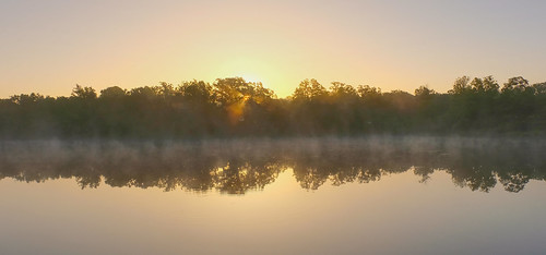 Sunrise mist rising from the pond | by Peeb OK