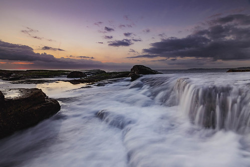 sydney newsouthwales australia au turimetta headland sunrise dawn long exposure wave water cloud