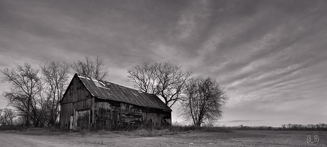 Dirty Old Barn, Diry Old Barn 2186.bw
