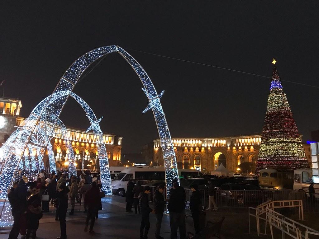 Yerevan's republic square