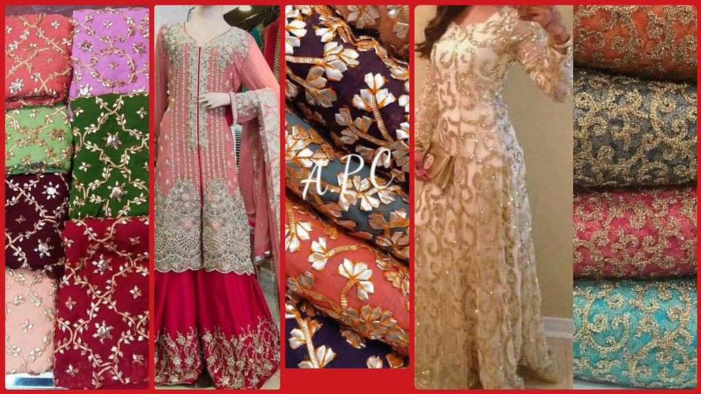 Party Wear Stylish Dress Designs Ideas With Dress Material