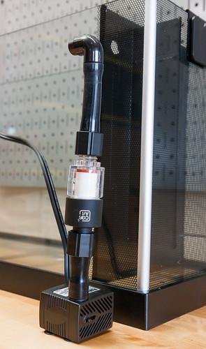 Inline CO2 Diffuser installed in Fluval Spec V Aquarium