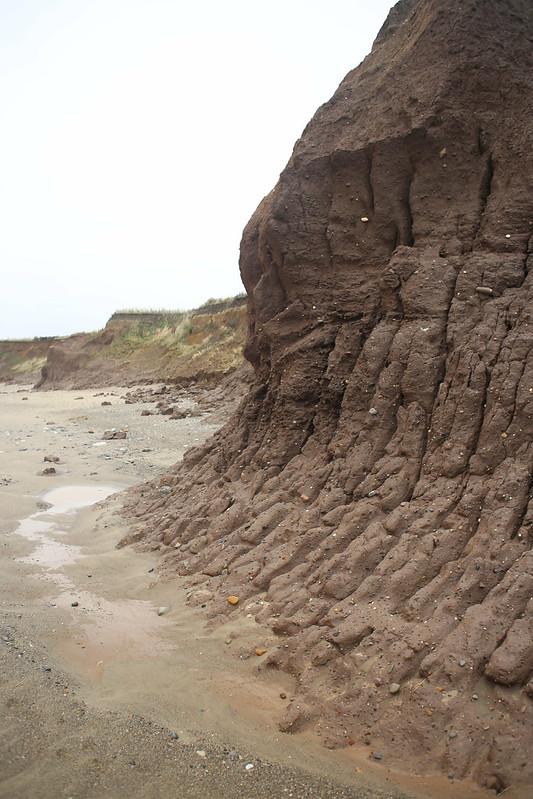 Muddy cliffs near Withernsea