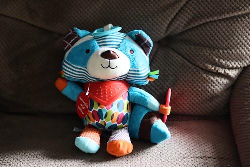 Skip Hop Bandana Buddies Stroller Toy Raccoon | by sophleow