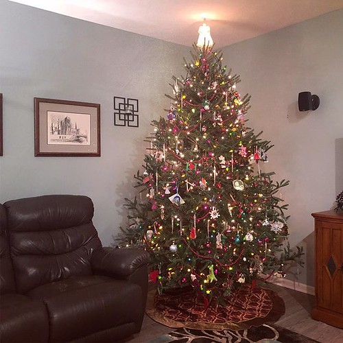 There she is, the biggest tree we ever had, all decorated. | by auley