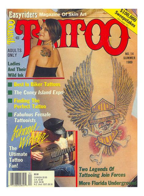 Johnny Winter Tattoo Magazine 1989