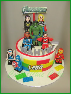 Cake Lego The Avengers WAHYU  18 cm | by KevnCealMom