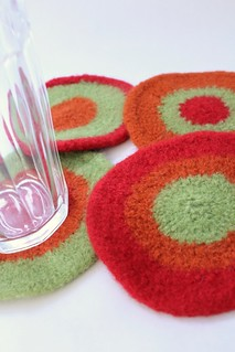 Felted Coasters - Lauren   by smithsoccasional