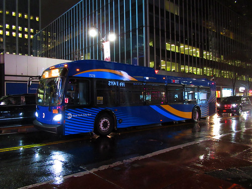 "2018 New Flyer ""Xcelsior"" XD40 7578 on the M50 at West 34th Street & 7th Avenue 
