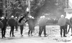 Ontruiming Prins Hendrikkade 1980