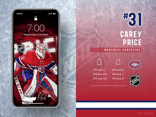 #31 Carey Price (Montreal Canadiens) iPhone Wallpapers | by Rob Masefield (masey.co)