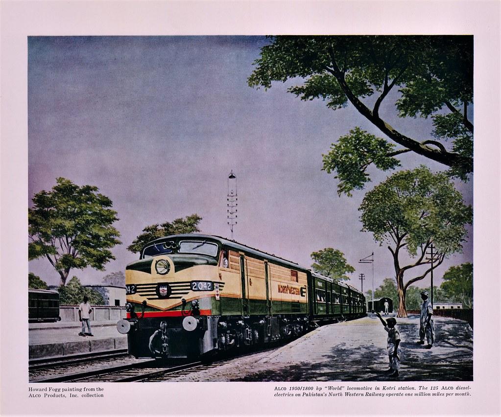 North Western Railway of Pakistan - NWR Class ALPW18 diese