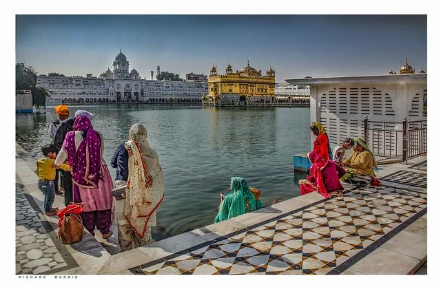 Women's Bathing, The Golden Temple, Amritsar, India.