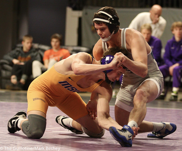 149: Kyle Rathman (MSU) wins 20-5 tech fall at 6:57 vs. Chase Seaney (UIU) | 18-17 MSU - 190117mke-0193