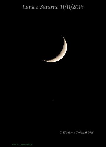 Luna e Saturno 11/11/2018 | by AstroBetta