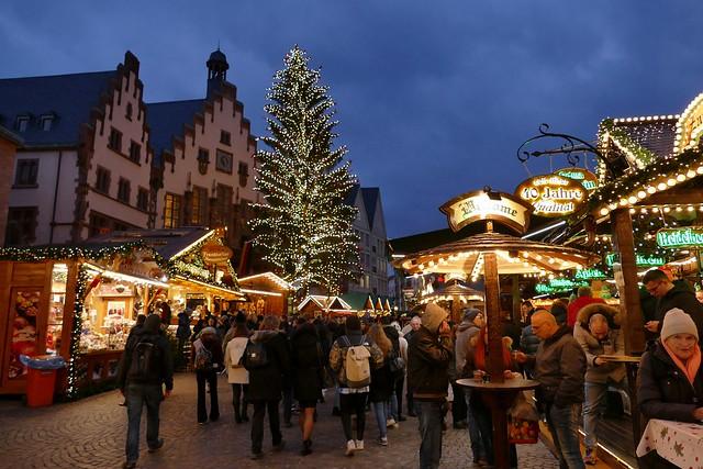Christmas Market Frankfurt at the Blue Hour