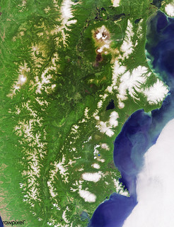 Kamchatka Peninsula, Russia. Original from NASA. Digitally enhanced by rawpixel.