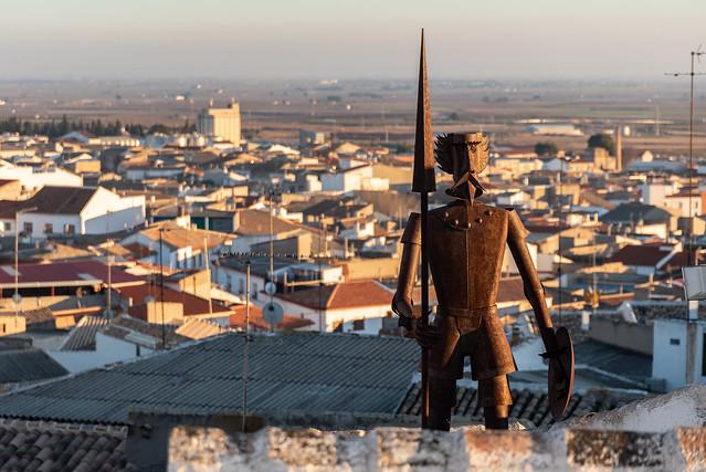 El Quijote en Campo de Criptana.
