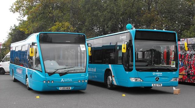 2974 YJ09 MKN, Optare Versa V1100 - 3003, BJ12 YPM, Mercedes Benz O.530, Citaro Body (t.2018)