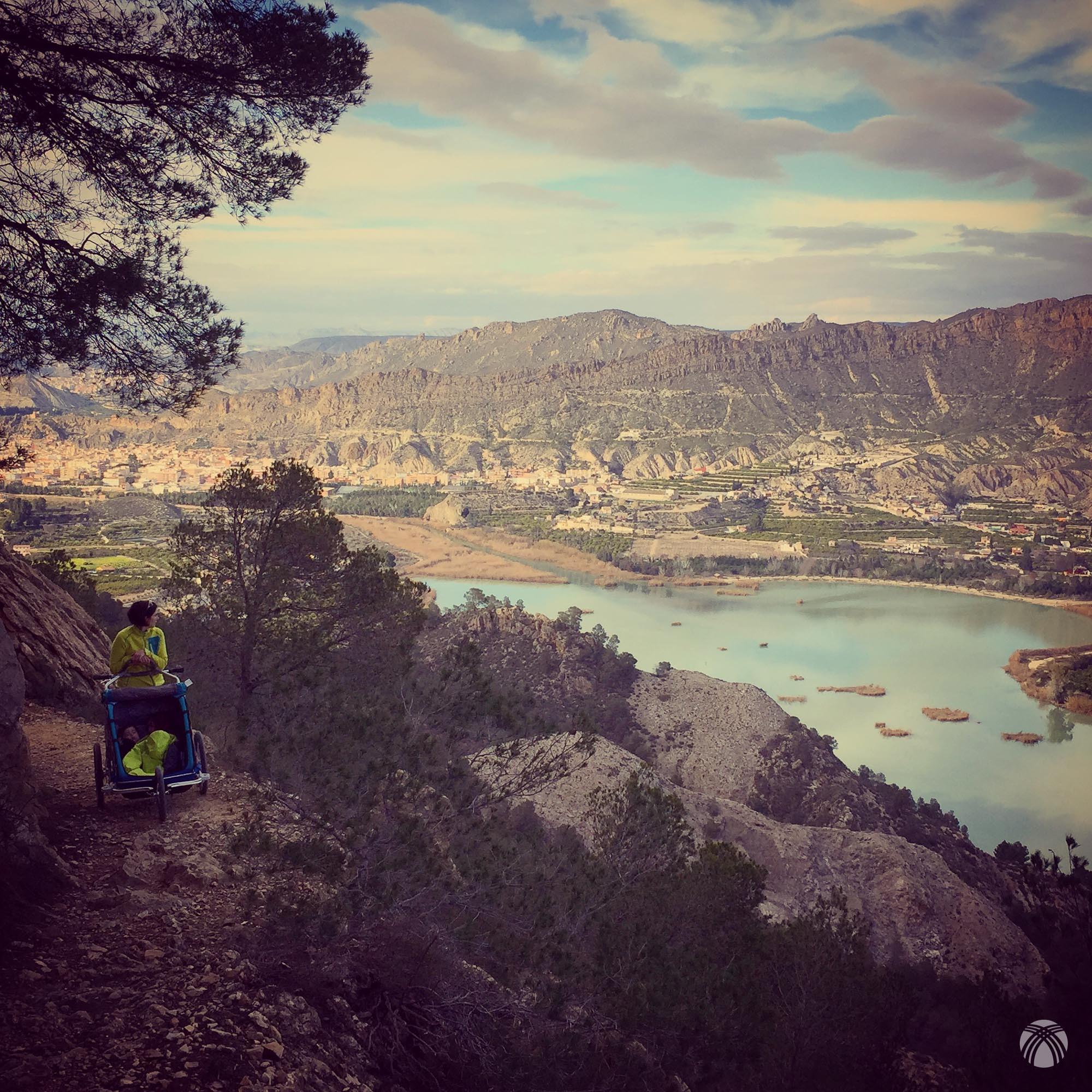 Excepcionales las vistas al embalse del Azud de Ojós
