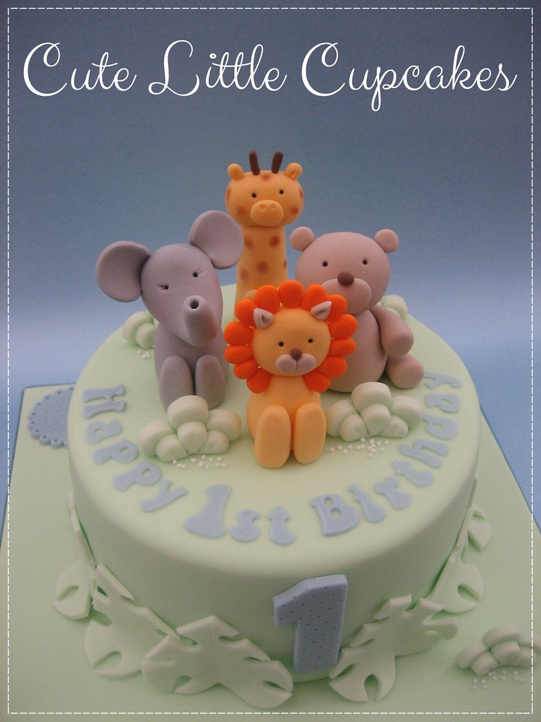 Pleasant Cute Safari 1St Birthday Cake Heidi Stone Flickr Funny Birthday Cards Online Elaedamsfinfo