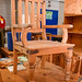 Wooden carver chair E55