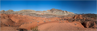 lake mead red stone moutains pano | by Evelakes67