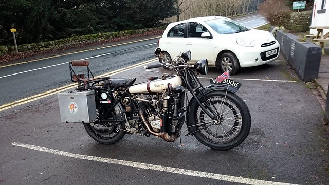 Brough Superior Mk1 at the 2018 South Durham VMCC Boxing Day Run