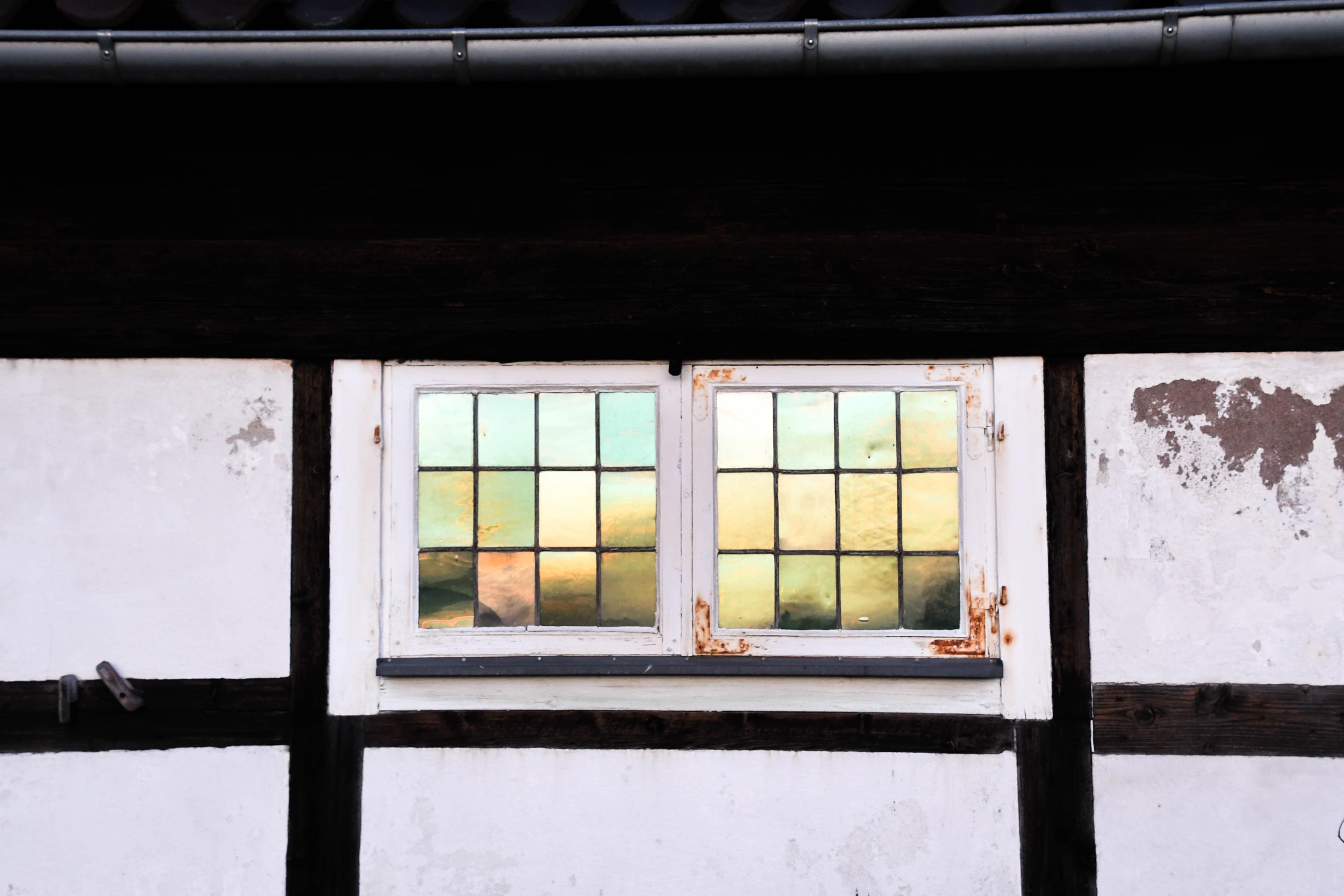 Windows Reflecting lights last shivering days of December