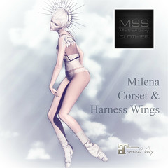 MSS Milena Corset and Harness Wings @ On9