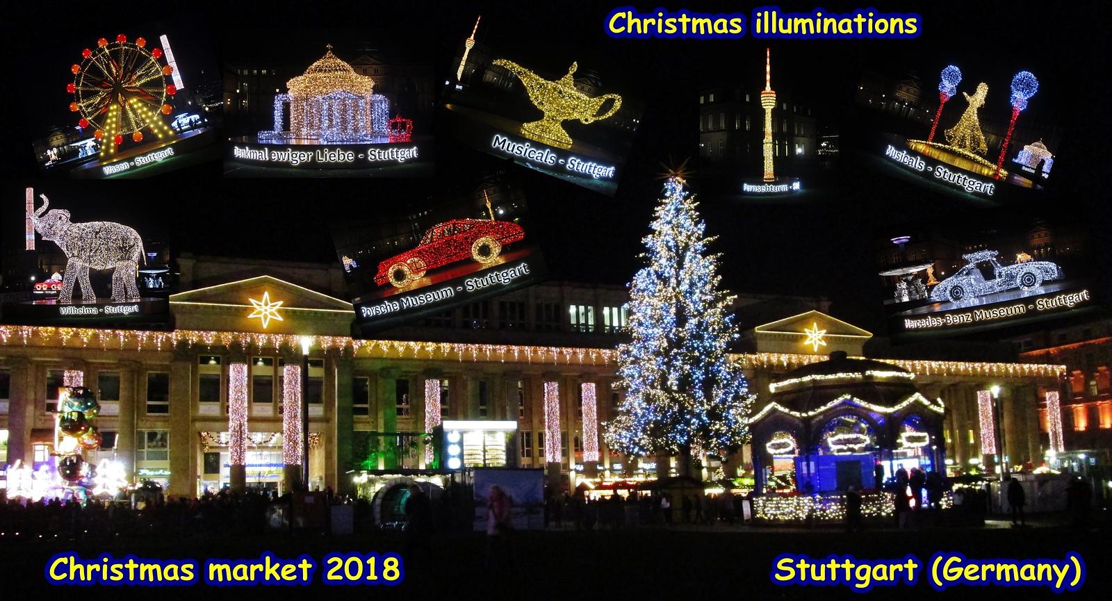 Christmas In Stuttgart Germany.Christmas Illuminations Stuttgart Germany December 2018