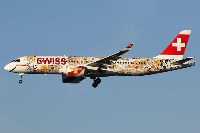 HB-JCA | Swiss 'Romandy' | Airbus A220-300 | London-Heathrow (LHR/EGLL)