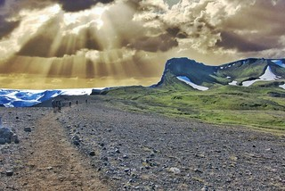 Iceland ~ Landmannalaugar Route ~  Ultramarathon is held on the route each July - Hiking to new campsite | by Onasill ~ Bill Badzo