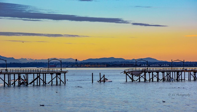 The Forces of Nature - White Rock Pier - Post  Storm Devasation